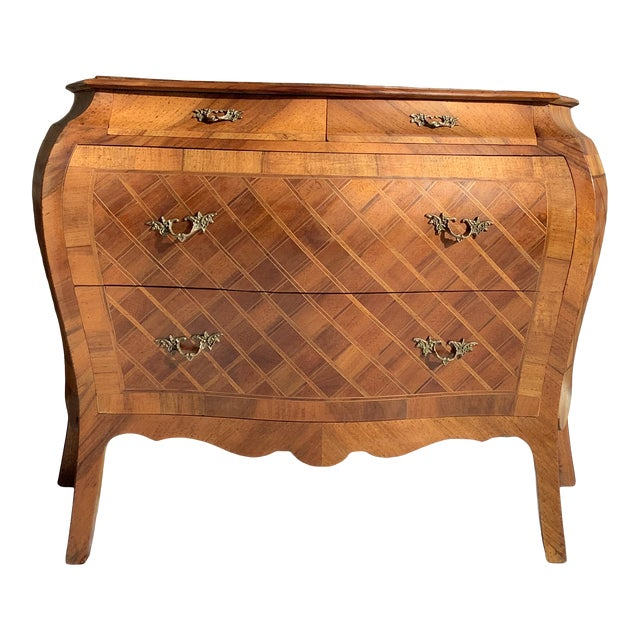 Italian Bombay Chest W/ Parquetry For Sale