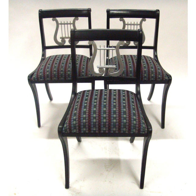 Mid-Century Harp Back Dining Chairs - Set of 3 - Image 4 of 8