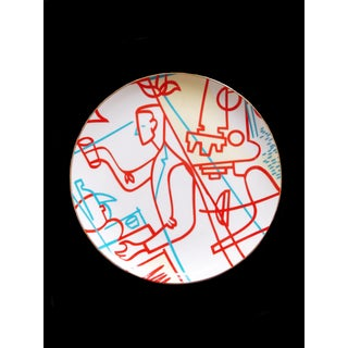 1980s Modernist Signed Danbury Pharmacal Art Collection Abstract Plate Preview