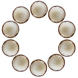 Hors d'Oeuvres Plates - Set of 10 For Sale