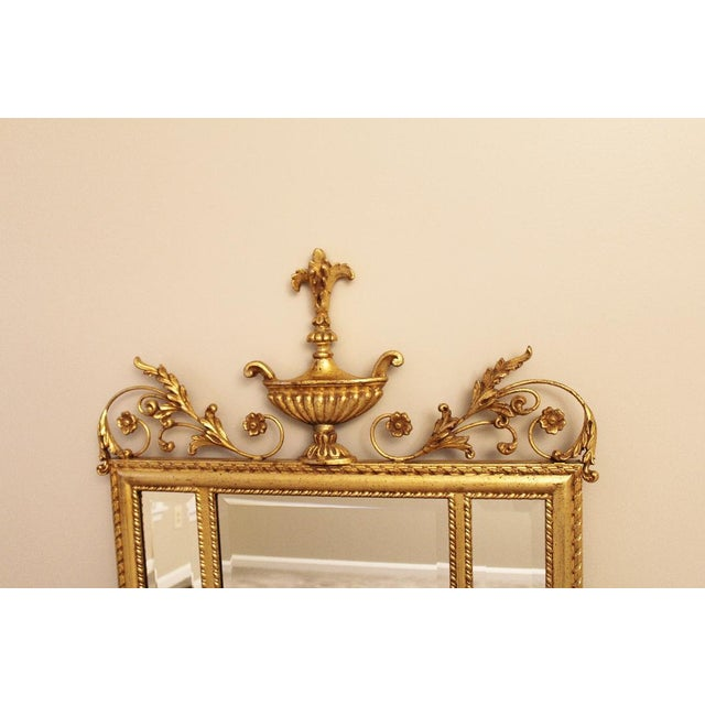 Neoclassical 1980s Neoclassical LaBarge Ornate Style Mirror For Sale - Image 3 of 11
