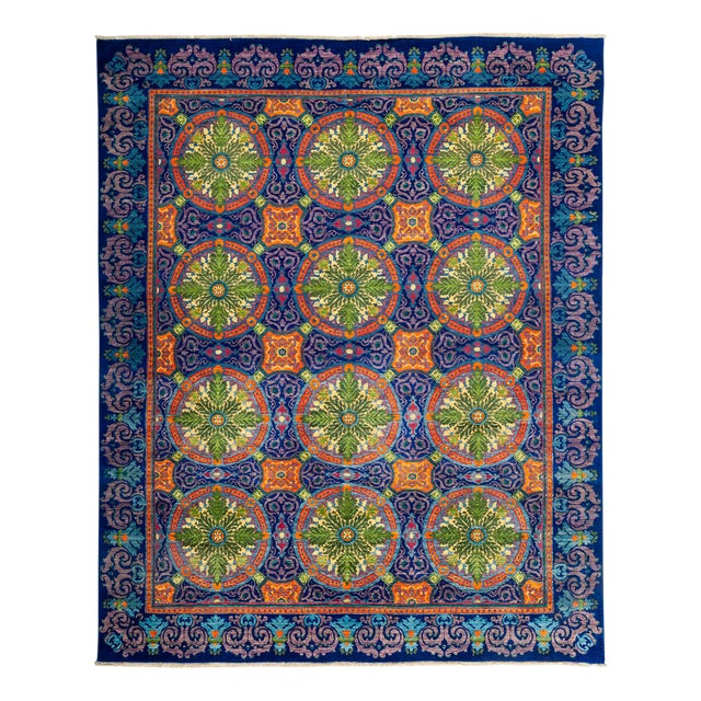 "Suzani Hand Knotted Area Rug - 8'2"" X 10'2"" For Sale"