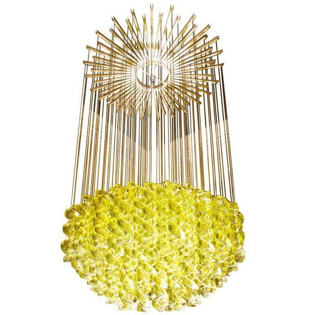 Exceptional Venetian Blow, Glass Pendant Light Fixture For Sale - Image 5 of 6