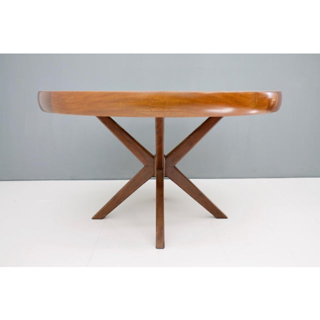 1960s Round Dining Table From Brazil, 1960s For Sale - Image 5 of 5