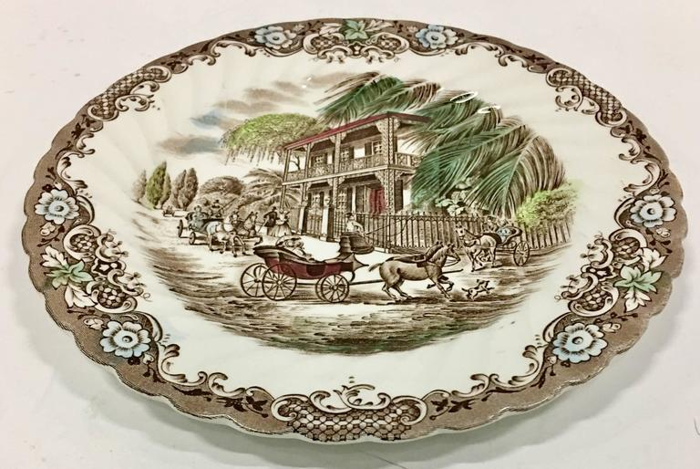 English Ironstone \ French Provincial-Heritage Hall\  Pattern Dinnerware - Set of Nine -  sc 1 st  Chairish & English Ironstone \