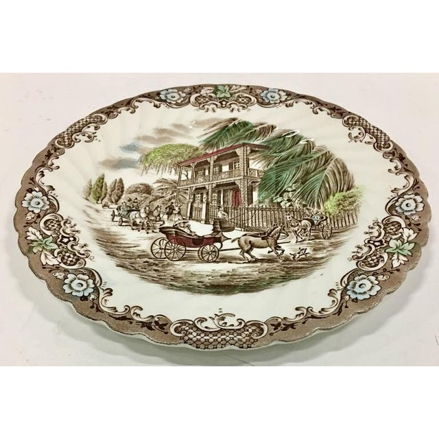"English Ironstone ""French Provincial-Heritage Hall"" Pattern Dinnerware - Set of Nine - Image 3 of 9"