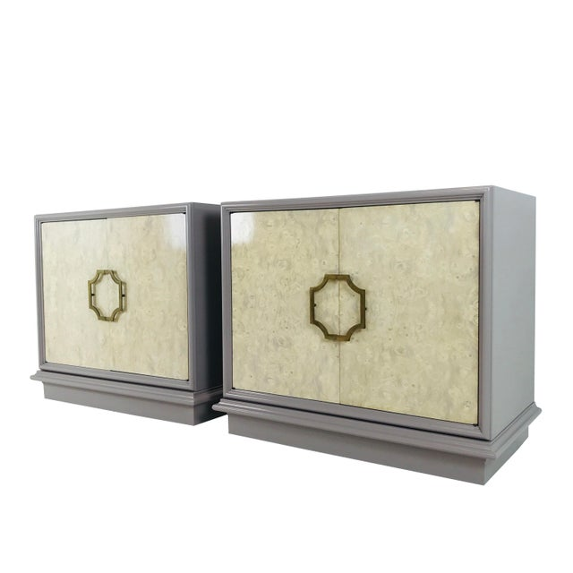 Pair of Mastercraft Bachelor Burl and Lacquer Cabinets For Sale - Image 13 of 13