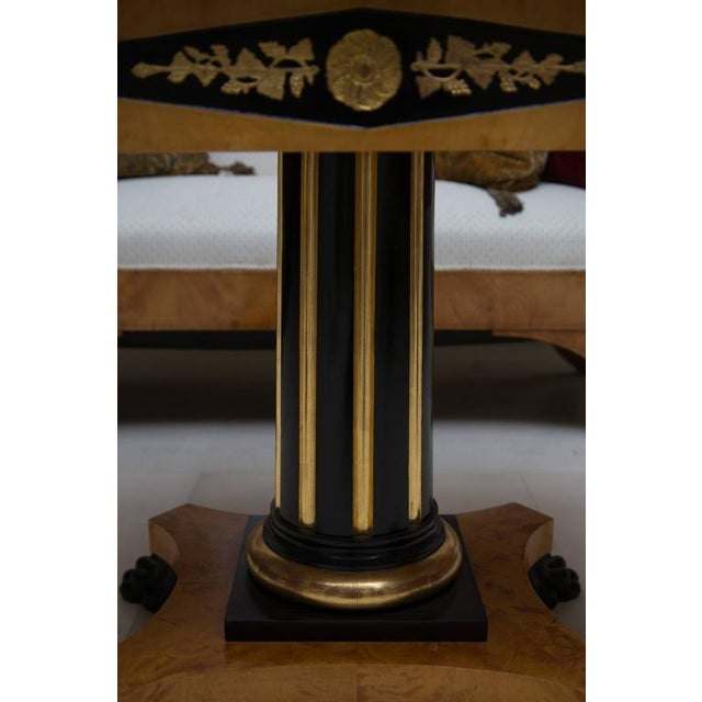 19th Century Swedish Cherrywood Biedermeier Pedestal Sofa Table For Sale In West Palm - Image 6 of 9
