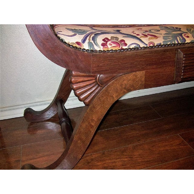 White Empire Style Bedroom Scroll End Bench Seats- A Pair For Sale - Image 8 of 13