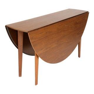 1940s Mid-Century Modern Edward Wormley for Dunbar Drop Leaf Dining Table For Sale