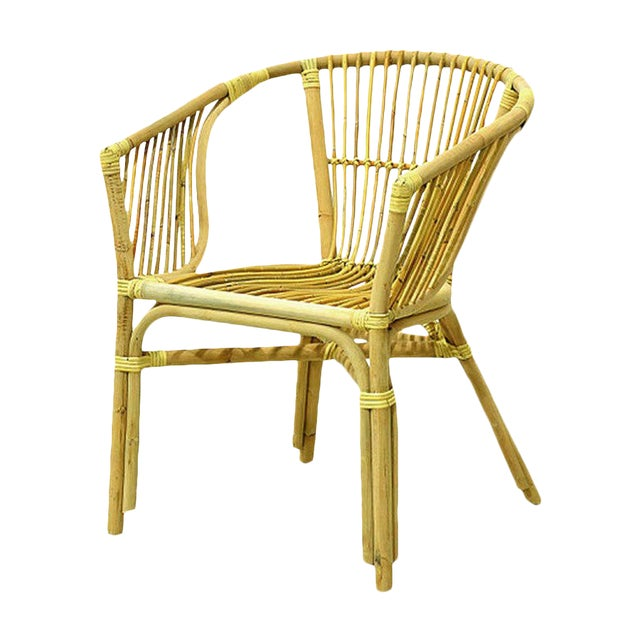 Julia Rattan Armchair From Indonesia For Sale
