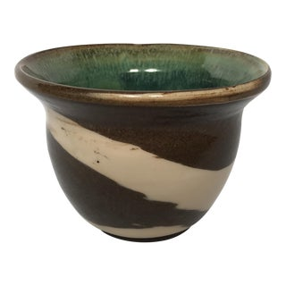 Small Painted Pottery Cachepot