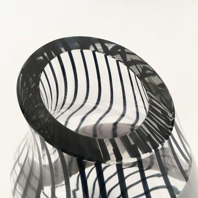 Livio Seguso Striped Murano Art Glass Vase For Sale - Image 11 of 13