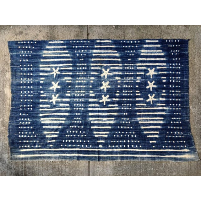Vintage West African Indigo Throw - Image 6 of 6