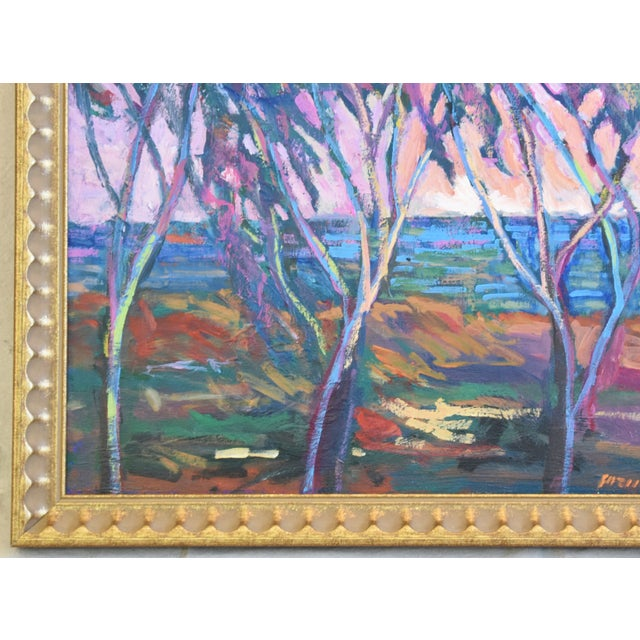 Santa Barbara California Impressionist Landscape Seascape Painting by Juan Guzman For Sale In Los Angeles - Image 6 of 9
