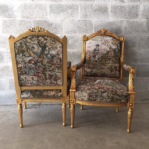 French Louis XVI Style Chairs - A Pair - Image 4 of 5