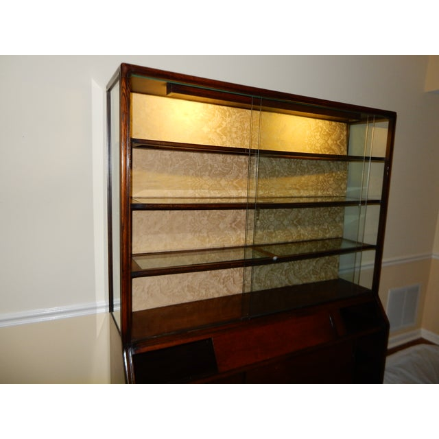 Mid-Century Glass Front China Display Cabinet - Image 10 of 11