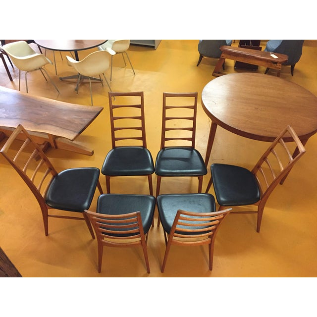 Niels Koefoed for Koefoeds Hornslet Lis Teak Ladder Back Dining Chairs - Set of 6 For Sale - Image 11 of 13