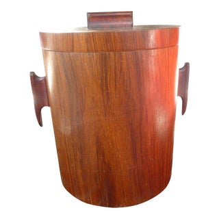 1960s Vintage Mid-Century Modern Rosewood Ice Bucket For Sale