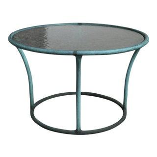 Mid-Century Modern Kipp Stewart for Terra Bronze and Pebble Glass Side Table