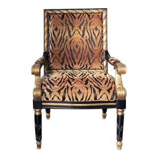 Tiger Pattern Empire Style Chair