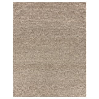 Sanz Flatweave Wool Beige Rug - 9'x12' For Sale