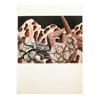 """1972 Rene Magritte, """"The World's Blood"""" Original Photogravure For Sale"""