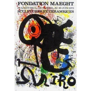 (after) Joan Miró Sculptures et Ceramics, 1973 Fondation Maeght Exhibition Poster 1973 For Sale
