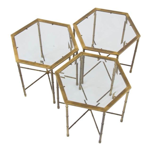 Mastercraft Hexagonal Side Tables - Set of 3 - Image 1 of 7