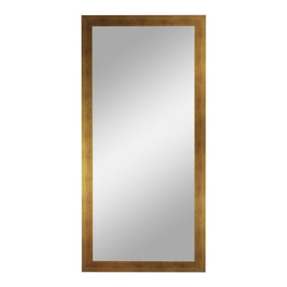 Hushed Gold Framed Wall Leaning Mirror