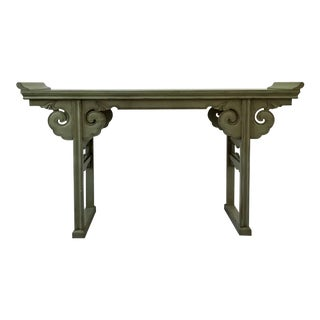 20th Century Asian Style Jade Wood Altar Console Table