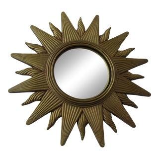 Gilt Convex Sunburst Mirror For Sale