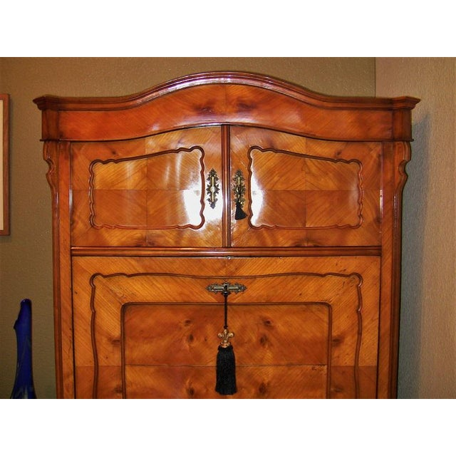 Mid 19th Century 19c French Louis Philippe Yew Wood Secretaire with Secret Drawers For Sale - Image 5 of 10
