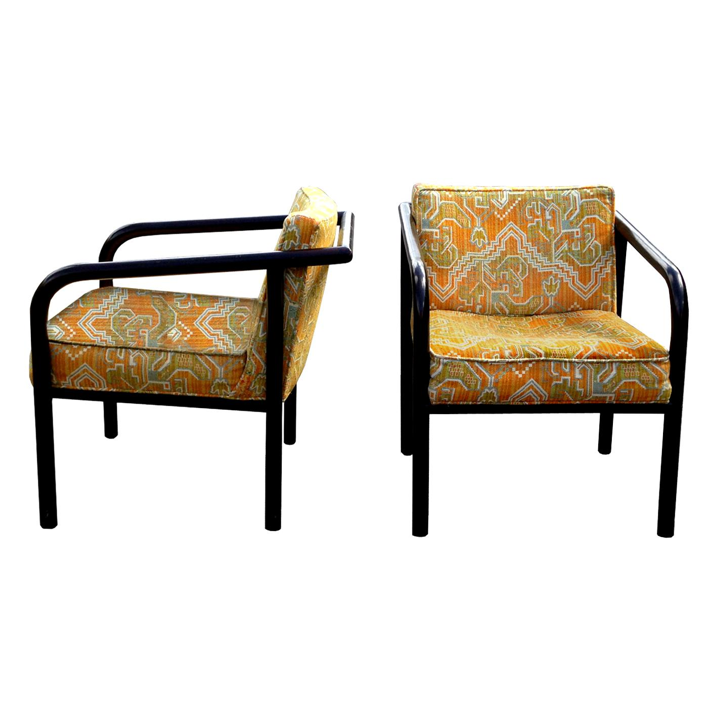 Elegant Directional Mid Century Lounge Chairs   A Pair