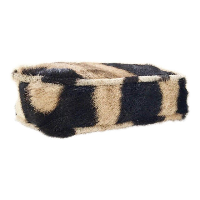 Forsyth Mini Bench with Zebra Hide Cushion - Image 4 of 4