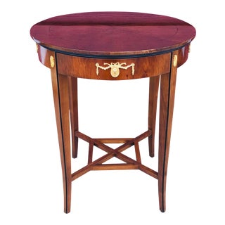 Antique Biedermeier Style Side Table For Sale