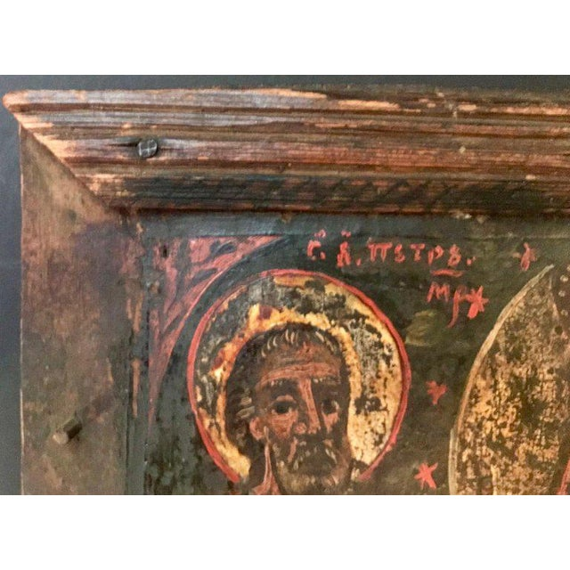 17th Century Antique Russian Orthodox Painting For Sale - Image 9 of 13