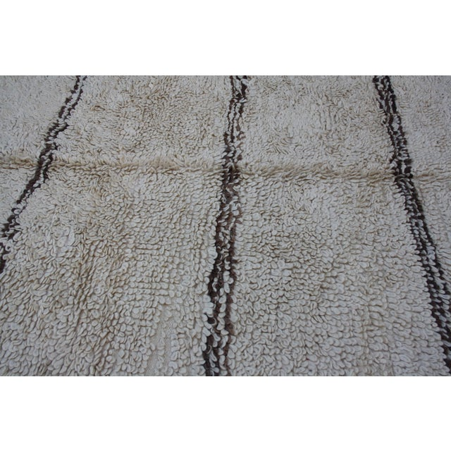 Boho Chic Moroccan Beni Ourain Rug - 14'2'' X 6'3'' For Sale - Image 3 of 5