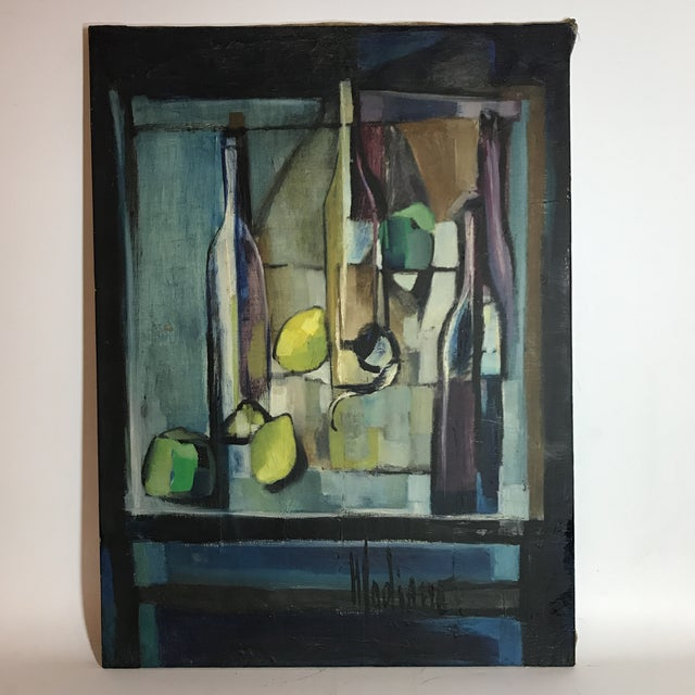 Madiano Tomei Oil On Canvas Painting For Sale - Image 5 of 5