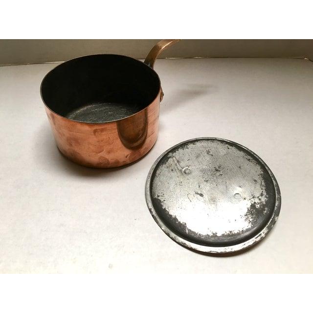 Bazar Francais Vintage Copper Saucepan - Image 4 of 8