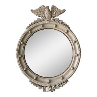 Vintage Federal Style Convex Bullseye Mirror For Sale