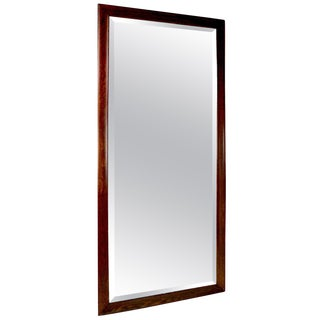 Architectural Scale Oak Frame Bevelled Mirror For Sale