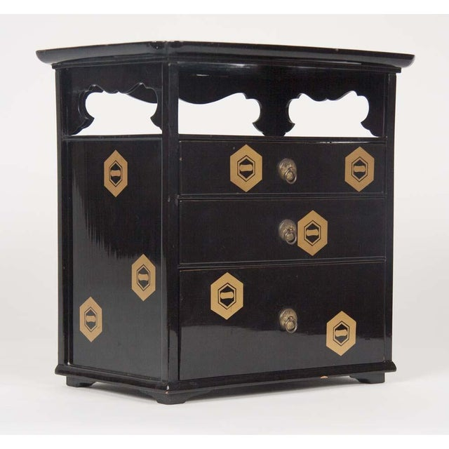 Black Japanese Lacquer Cosmetics Cabinet For Sale - Image 8 of 13