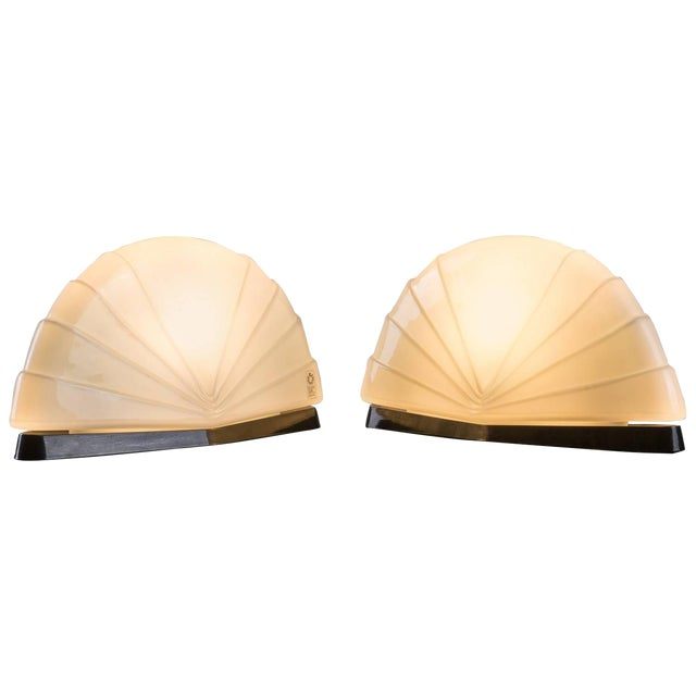 """Pair of """"Flores"""" Table Lamps by P. Nava for Leucos For Sale"""