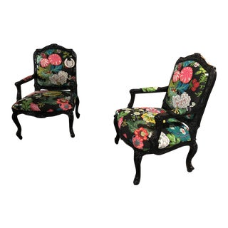 1960s Vintage Katie Brandt Interiors Chiang Mai Dragon Arm Chairs- a Pair For Sale