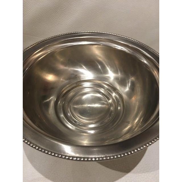 Classy vintage pewter pedestal beaded rim decorative bowl. No maker's marks.
