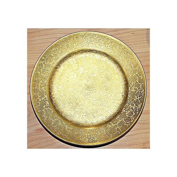 All-Over-Gold Serving Set - 7 Pieces For Sale In West Palm - Image 6 of 9