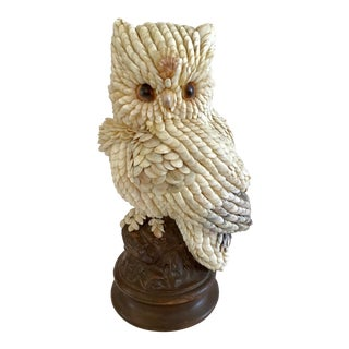 1970s Shell Encrusted Owl Figure For Sale