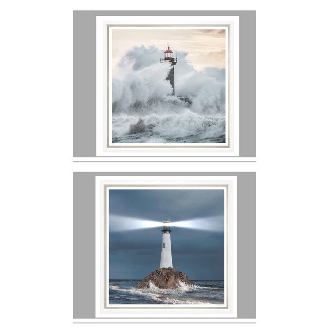 "2010s Trowbridge Giclees ""Ray of Light"" & ""Crashing Waves"" Pair For Sale - Image 5 of 5"
