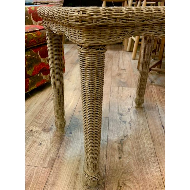 Boho Chic Wicker Side Table For Sale - Image 3 of 6